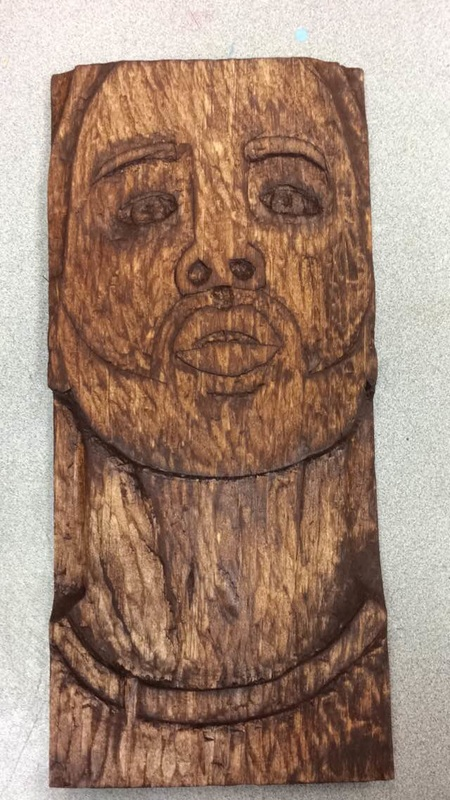 Wood carving relief carly donnenwirth art